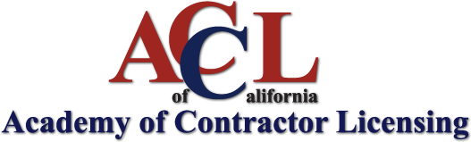Academy of Contractor Licensing of California Logo